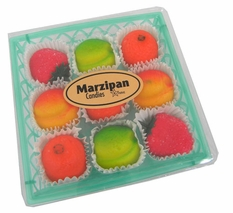 Marzipan Fruit Candy 9 Count Gift Basket 4oz