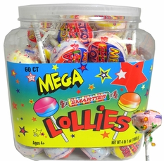 Mega Smarties Lollipops 60 Count