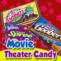 Movie Size Candy; Theater Candy