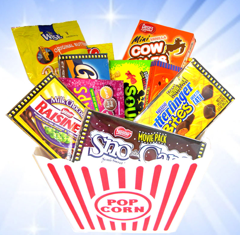 movie theater candy gift tub blaircandycom