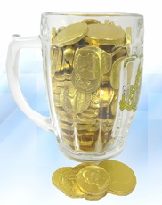 Mug Filled With Chocolate Coins
