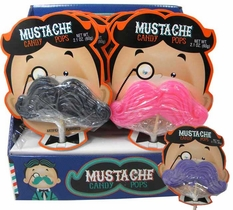 Mustache Lollipops 12 Count