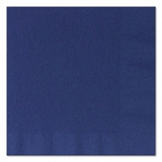 Navy Beverage Napkins 3 Ply - 50 Count