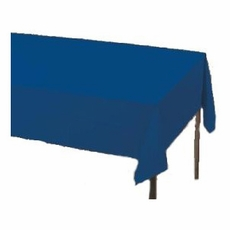 Navy Plastic Tablecloth