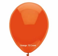 "Orange Latex Balloons 11"" 72 Count Bag"