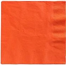 Orange Lunch Napkins 50 Count