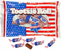 Patriotic Flag Wrapped Tootsie Rolls 11oz Bag