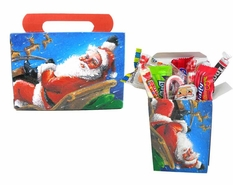Personal Size Christmas Candy General Treat Box - Santa