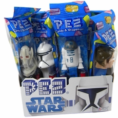 PEZ Candy With Dispenser 12ct - Star Wars