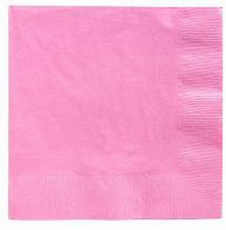 Pink Beverage Napkins 3 Ply - 50 Count