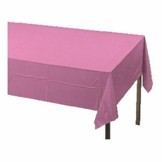 Pink Paper Tablecloth (Plastic lined)