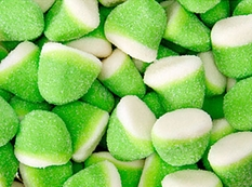 Pufflettes Green & White Green Apple Gummy Bites 5lb