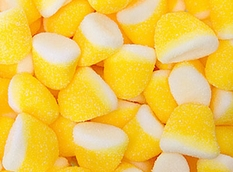 Pufflettes Yellow & White Lemon Gummy Bites 5lb