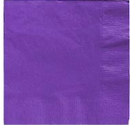 Purple Beverage Napkins 3 Ply - 50 Count