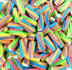 Rainbow Twisters Licorice 6.6lb Bulk Box