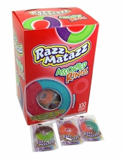 Razz Matazz Gummi Assorted Rings 100 Count