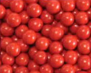 Red Mini Chocolate Candy Balls 2lb Sixlets