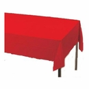 Red Paper Tablecloth (Plastic lined)