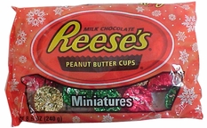 Reese's Peanut Butter Miniatures 8.5oz Christmas Candy