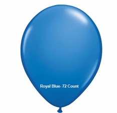 "Royal Blue Latex Balloons 11"" 72 Count"