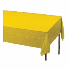 School Bus Yellow Paper Tablecloth (Plastic lined)