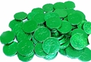 Shamrock Bubble Gum Coins 100ct