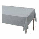 Silver Plastic Tablecloth
