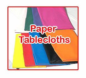 Solid Color Paper Tablecloths