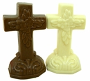 Solid Milk Chocolate or White Chocolate Cross 2.75oz Gardners