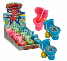 Sour Flush Lollipops 12 Count