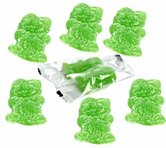 Sour Green Gummi Budz Kids Wrapped 3.3oz (304 Count)