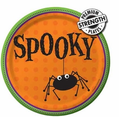 """Spooky 9""""  Paper Dinner Plate 8 Count"""