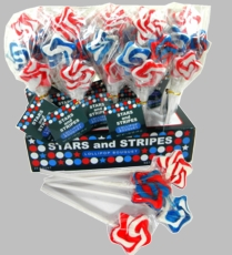 Stars & Stripes Lollipops 20ct