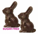 Sugar Free Solid Chocolate Bunny 3oz Gardners Milk  Choc