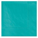 Teal Beverage Napkins 3 Ply - 50 Count