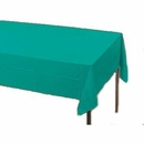 Teal Paper Tablecloth (Plastic lined)