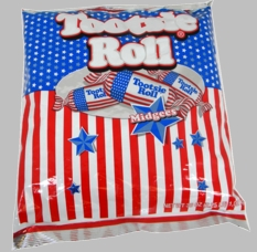 Tootsie Roll  Midgies Red; White & Blue 2lb Bag (156 pieces)