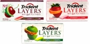 Trident Layers Sugar Free Gum -Choose  Flavor
