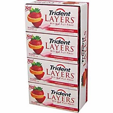 Trident Layers Wild Strawberry-Tangy Citrus 12CT