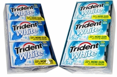 Trident White Sugarless Gum 9 Count - Choose Flavor