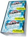 Trident White Sugarless Gum 9 Count - Wintergreen