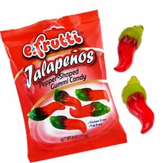 Trolli Gummi Jalapeno's Peppers Candy 4oz Bag