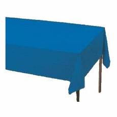 True Blue Paper Tablecloth (Plastic lined)