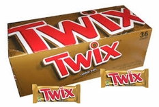 Twix Caramel Candy Bar 36ct