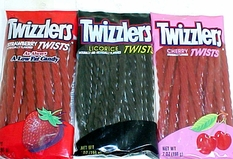 Twizzler Strawberry; Cherry or Black Licorice  7oz Peg Bag