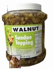 Walnut Sundae Topping  5lb Jar
