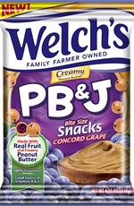 Welchs PB&J Snack Grape 4.25oz Bag