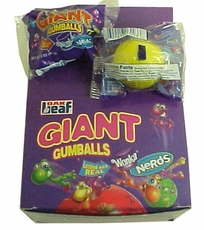 Wonka Nerds Filled Giant  Bubble Gum Balls 18ct