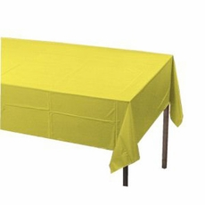 Yellow (Mimosa) Paper Tablecloth (Plastic lined)
