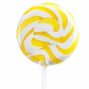 Yellow  & White Petite Squiggly Lollipops 48 Count (Lemon)